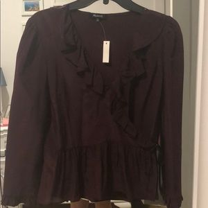 Madewell wrap long sleeve shirt